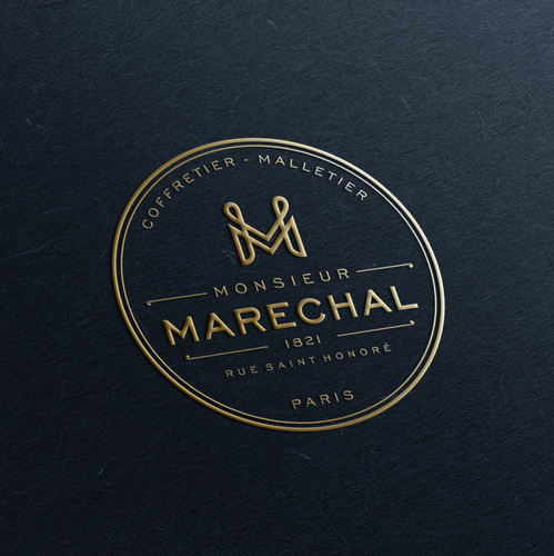 Bag logo with the title 'monogram logo for luxury brand'