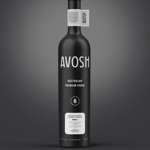Vodka label with the title 'Award-Winning Premium Australian Vodka'
