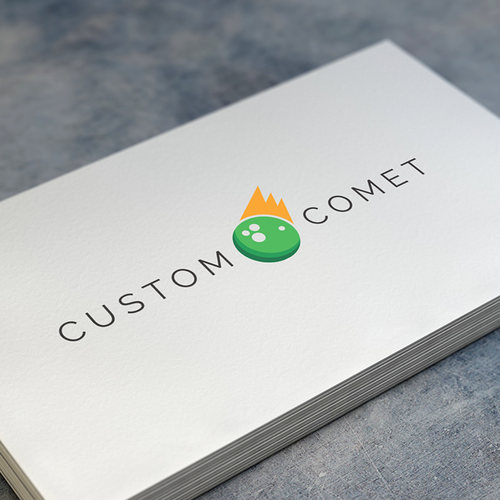 Comet logo with the title 'Logo for a company that makes promo items.'