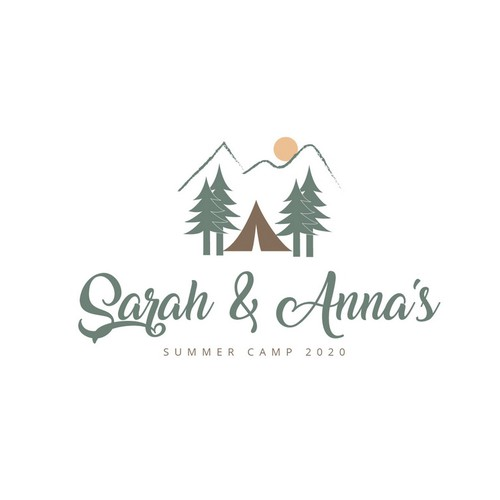 Summer camp design with the title 'Logo for Sarah and Anna's '