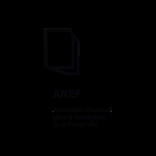 Association logo with the title 'ANEF Asociación Nacional para la Enseñanza de la Fotografía'