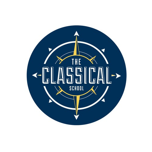 Classical music logo with the title 'The Classical School'