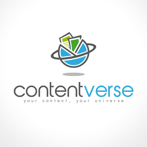 Media logo with the title 'Create a logo for Contentverse'