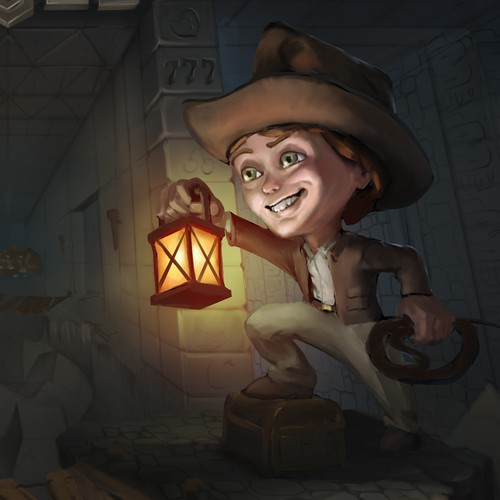 Background artwork with the title 'Indiana jones theme for the stakes.com'