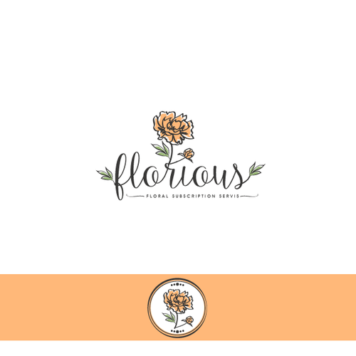 Floral brand with the title 'florious'
