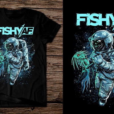 Astronaut Fisherman for FISHY AF