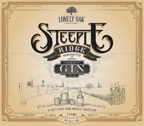 Beverage design with the title 'Label Design - Craft Spirit'