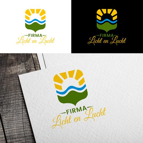 Air logo with the title 'Firma Licht en Lucht'