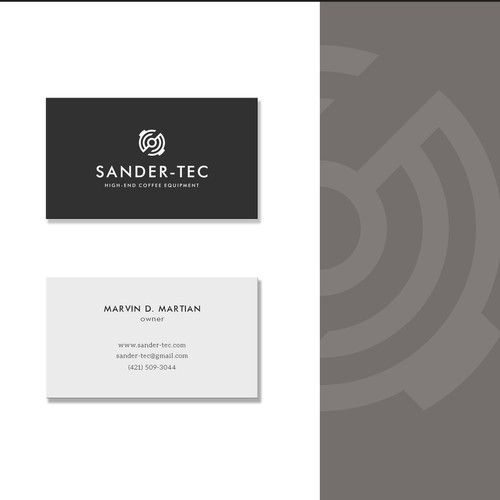 Neutral design with the title 'Modern logo for high-quality coffee equipment'