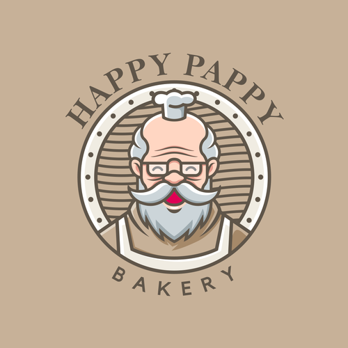 Bakeshop design with the title 'Happy Pappy'