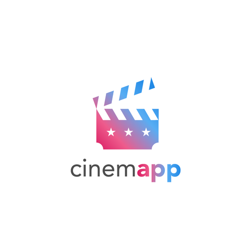 Ticket logo with the title 'Cinemapp Logo'