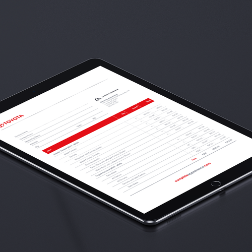 Interactive PDF design with the title 'PDF - Fillable Form/Invoice'