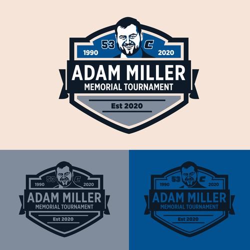 Tournament logo with the title 'Emblem Bold Logo Adam Miller Memorial Tour'