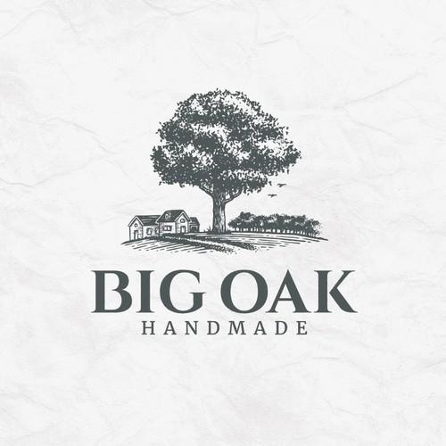 Oak design with the title 'Big Oak Tree Logo'