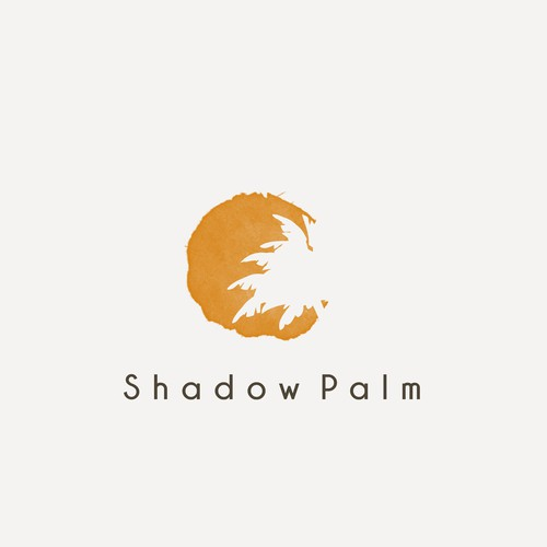 Traveling design with the title 'Palm shadow logo'