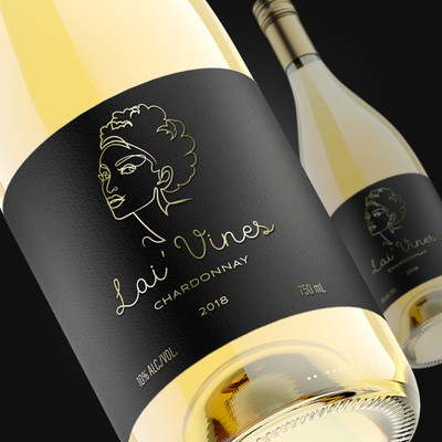 Lai' Vines wine label design