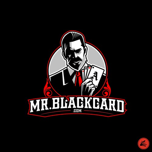 Beard design with the title 'Mr.Blackcard'