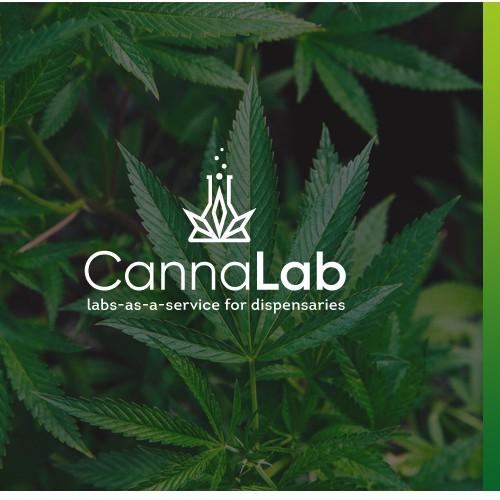 Cannabis leaf logo with the title 'Logo for CannaLab'