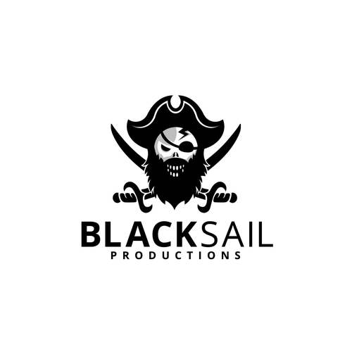 Sail logo with the title 'PIRATE LOGO'