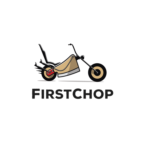Conceptual logo with the title 'Conceptual logo for chopped meat delivery'