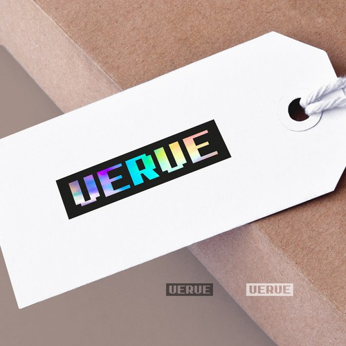 Custom brand with the title 'Vibrant custom wordmark for Verve fashion'