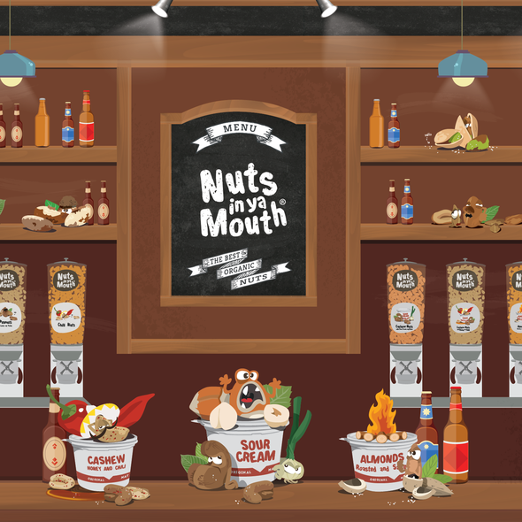 Nutrition website with the title 'Nuts In Ya Mouth!'