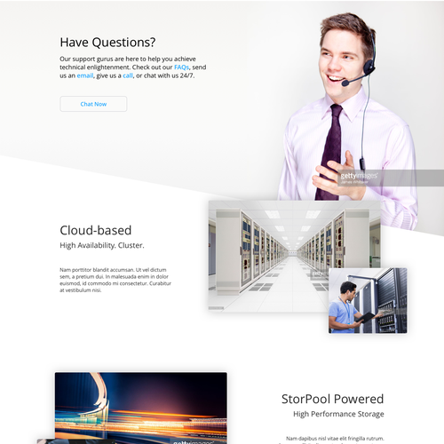 Pricing website with the title 'Company Modern Web Page'