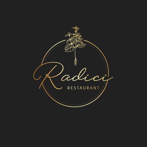 Basil design with the title 'Luxury logo concept for vegan restaurant'