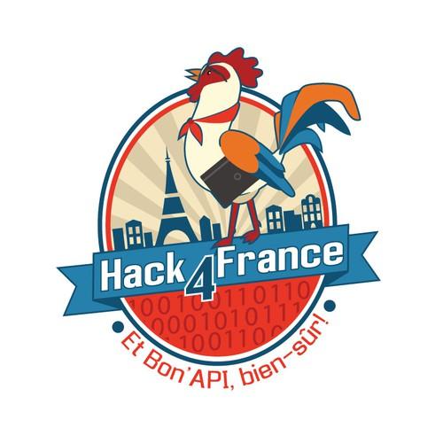 Developer logo with the title ' Hack4France'