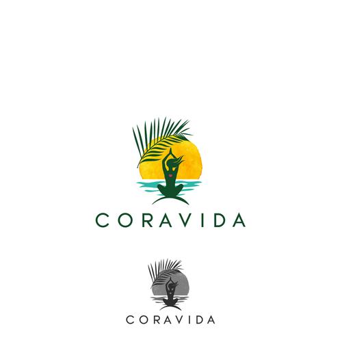 Paradise design with the title 'Design Coravida logo.. a paradise brand'