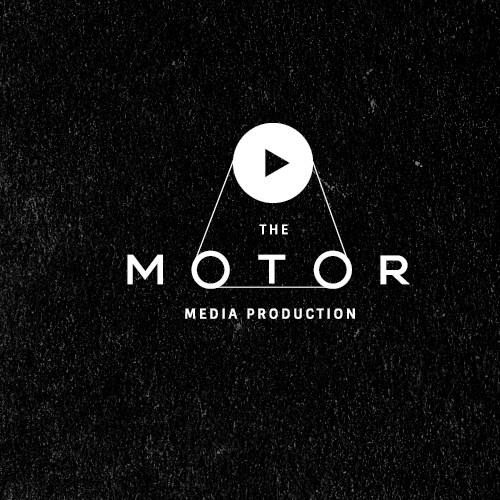 Cinema logo with the title 'Clever logo for The Motor media production'
