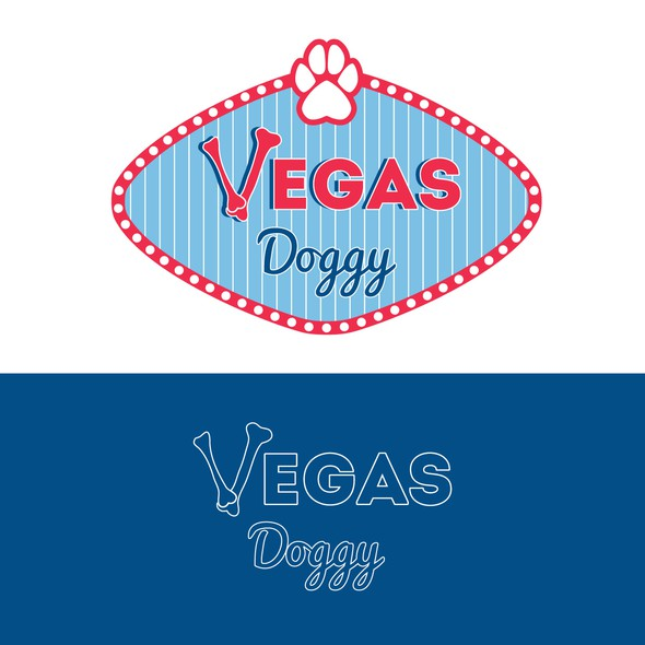 Slot machine logo with the title 'Vegas Doggy'