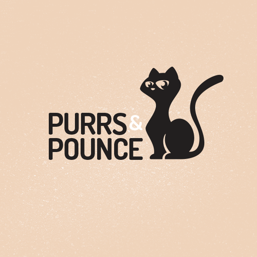 Dog, cat, and bird logo with the title 'Purrs&Pounce'