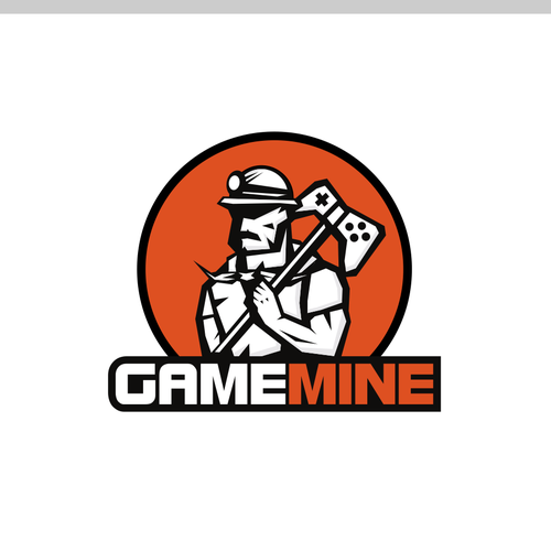 Video game design with the title 'Logo concept for Gamemine'