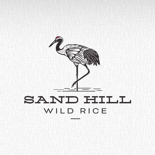 Wild logo with the title 'Packaging logo for Sand Hill Wild Rice!'