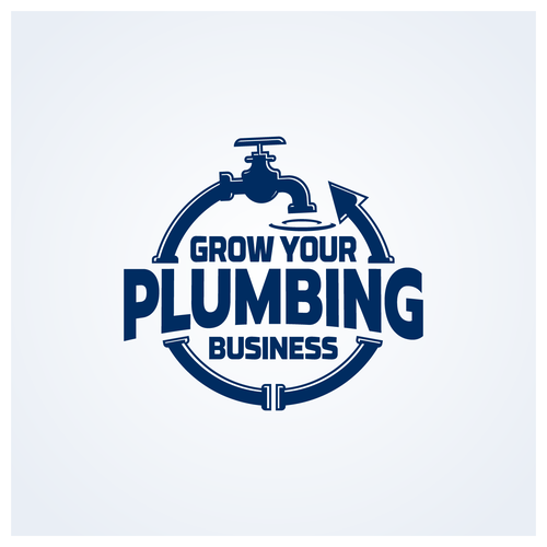 Plumbing logo with the title 'Logo for Grow your Plumbing Business'