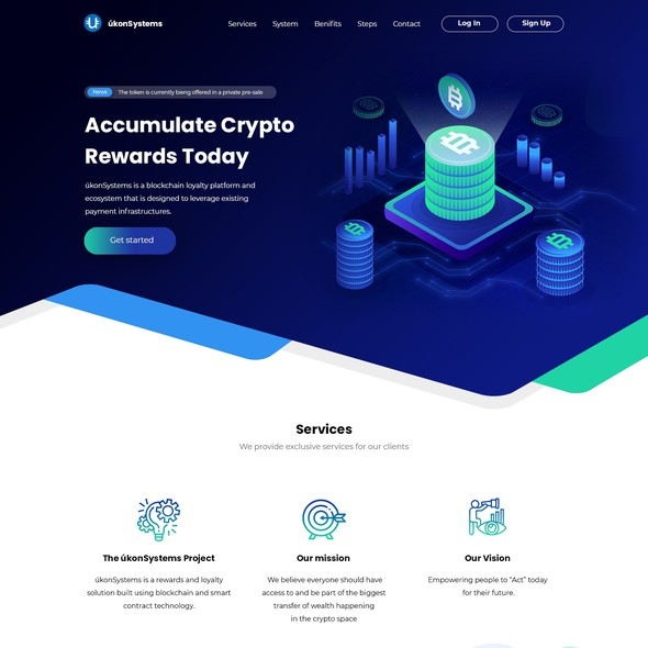Wallet design with the title 'Crypto Wordpress Design/Re-Design'