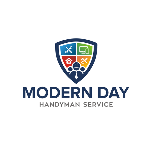 Home service logo with the title 'Modern Day Handyman Service'
