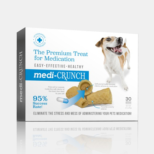 Treats design with the title 'Medi-crunch dog treat'