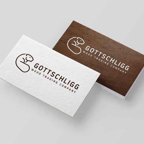Timber logo with the title 'Gottschligg Wood Trading'