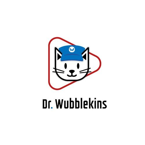 Stream design with the title 'Dr Wubblekins logo design. '