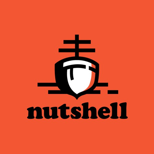 Acorn design with the title 'Logo Design for Nutshell'