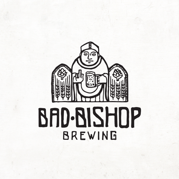Bishop logo with the title 'Logo proposal for brewery'