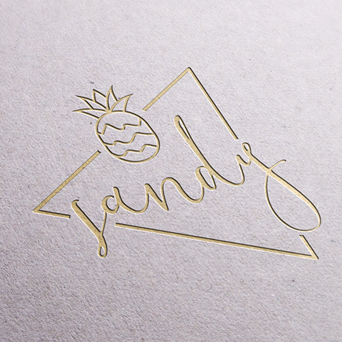 Modeling logo with the title 'Logo for Sandy Piña'