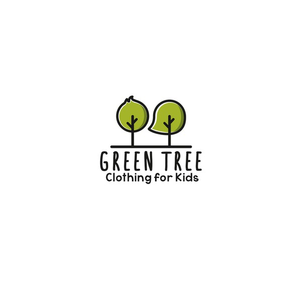 Kid's clothing logo with the title 'Green Tree'