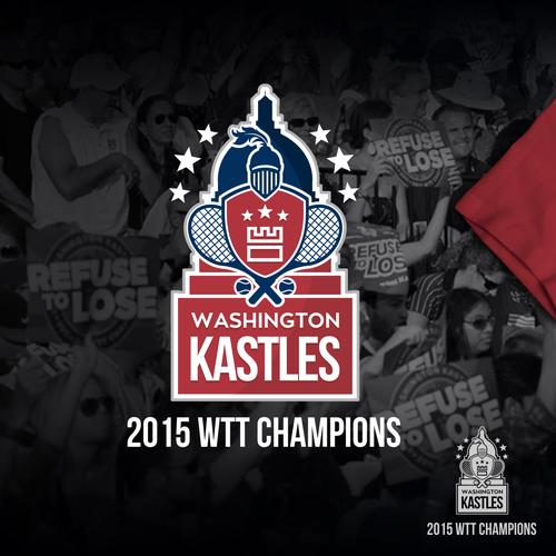 Tennis ball logo with the title 'Washington Kastles 2015 Championship Logo'
