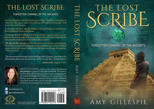 Historical fiction book cover with the title 'Dynamic Book Cover for Adventure Fiction Series, at forgotten sacred sites'