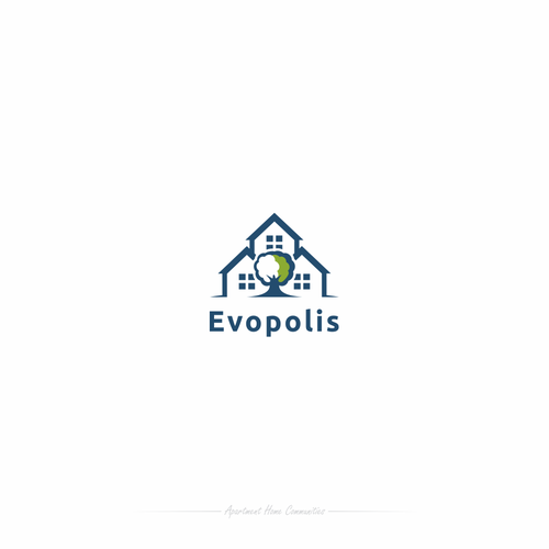 Tent logo with the title 'Evopolis'