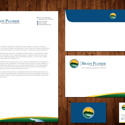Small law firm has a new logo and now needs letterhead and cards.