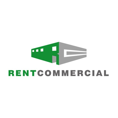 Commercial logo with the title 'Logo concept designed for a commercial real estate business. [August 2015]'